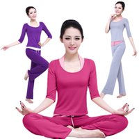 Wholesale The new fashion spring and autumn Korean version of yoga clothes three piece suit Modal Fitness sports