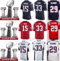 Wholesale Men Super bowl LI Patch LeGarrette Blount Dion Lewis Jersey Chris Hogan Malcolm Butler Mitchell Custom Football Jerseys
