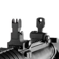 Wholesale Premium Flip up Front amp Rear Iron Sight Set Dual Aperture Fit Picatinny Rail of Hunting Gun Accessories