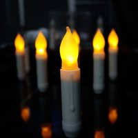 battery candle church - LED Candle Moving Colored Flame Battery Operated LED Pillar Birthday Candles Light Wedding Party Home Church Xmas