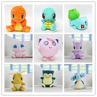Wholesale 4 quot Poke Go Stuffed Plush Toys Jigglypuff Charmander Bulbasaur Squirtle Mew Mewtwo Lapras Dragonite Snorlax Plush toys