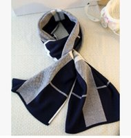 Wholesale Autumn and winter new men s wool scarf Europe and the United States tide men s jacquard lattice