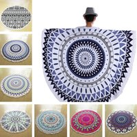 Wholesale round beach towel Blankets Microfiber round beach towel cm Bohemian style printing towel Bath towels Outdoor Throw blanket
