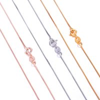 Wholesale 2017 Hot Styles SILVER and k GOLD PLATED Necklace Lobster Clasp CHAIN Necklaces