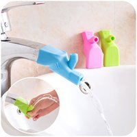 Wholesale Silicone Faucet Extender Ultra Soft Fountain Tap Sink Handle Extender Helps Kids Reach Faucet Washing Hands in Bathroom Kitchen Colors