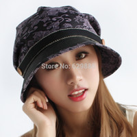 Las mujeres al por mayor-2017 del resorte de la manera de la muchacha florecen las gorras al aire libre de la bóveda de las compras ocasionales del verano de la boina rematan los sombreros bucolics
