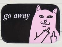 Grosshandel Cool Black Pink Katzen Unliebsamer Teppich Home Teppiche Katze Gehen Weg Felt Floor Wohnzimmer