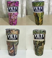 Wholesale In stock OZ camouflage YETI Cups Stainless Steel multi color YETI Rambler Tumbler Travel Beer Mug Bilayer Vacuum Insulated car cups