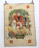 Wholesale Tibet Collectable Silk Hand Painted Immortal auspicious fengshui religion living room longevity god