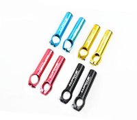 Wholesale Hot Sale Bicycle Handlebar Pair MM Aluminum Alloy Handlebar Bar Ends Bike Parts Bar End Bicycle Grips Bar Colors