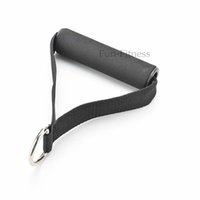 Wholesale D ring foam handles hot selling black color high quality foam handles resistance band exercise