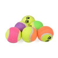 animal farm cast - Pet plush tennis throw cast dog toy pet toy ball dog supplies trainer pet footprint ball