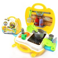 Wholesale 2016 Hot Sale Kitchen Toys For Children Cooking Tool Box Set Children Play House For Kid Girl Birthday Gift D114