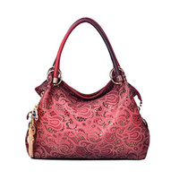 bamboo stone carving - 2016 new handbag fashion and retro hollow carved Shoulder Bag Tote auspicious clouds