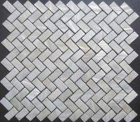 Wholesale Oyester White Herinngbone Mother of Pearl Shell Mosaic Backsplash Wall Tiles