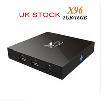 Wholesale X96 Android TV box Amlogic S905X Quad Core Android Marshmallow G GB WIFI Wifi HDMI