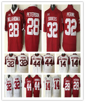 Wholesale Oklahoma Sooners College Jersey Adrian Peterson Football Jerseys Men s Samaje Perine Brian Bosworth American Orange Bowl Red