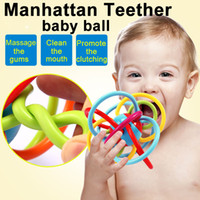 0-24 months baby toys balls - Zorn Toys Manhattan winkel baby ball months Rattle and Sensory Teether Grasping Activity Baby soft Toy Inch Without BPA
