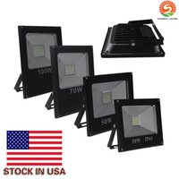 Wholesale 2016 Hot Sales W W W W W Outdoor Waterproof Led Floodlights Warm Cool White IP66 Led Flood Lights V Stock In US