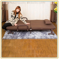 Wholesale Single Folding Bed with Wheeled Base and Brown Mattress cm