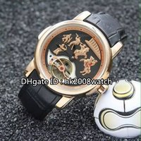 alexander the great - New Luxury High Quality Ulysse Alexander the Great Rose Gold Tourbillon Automatic Men s Watch Leather Strap Gents Watches