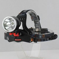 Wholesale 5000lm Headlamp CREE Headlight XML T6 R5 modes Waterproof Rechargeable LED light mah v battery car AC charger