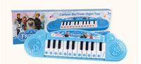 venda por atacado órgão eletrônico brinquedo-Instrumentos musicais de brinquedo para crianças Frozen menina Desenho eletrônico de órgão de brinquedo teclado piano eletrônico bebê com música 8 canção (1704007)