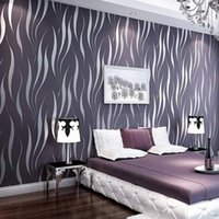 Wholesale Modern Luxury D Stripe Damask Wallpaper For Walls Living Room Bedroom TV Sofa Background Wall Covering Paper Papel De Parede