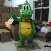 Wholesale 2017 HOT Yoshi Dinosaur mascot costume Adult size green Dinosaur cartoon costume Party fancy dress factory direct sale
