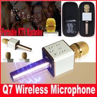 Wholesale Q7 Karaoke Microphone Bluetooth Wireless Handheld Loudspeaker Portable Bluetooth KTV Karaoke Player For iPhone Android Smart phone