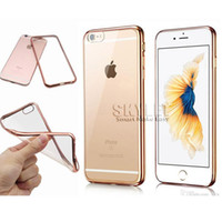 Wholesale For iPhone Colorful TPU Electroplating Cases For Galaxy S8 Backcover Ultra Thin Case Galaxy S7 Soft Gel Silicone Case with Opp Package