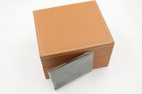 Alta calidad a estrenar Venta al por mayor superventas Hombres Moda marrón Boxes Box Men Watch Box y papel para Royal Oak Booklet Card in English