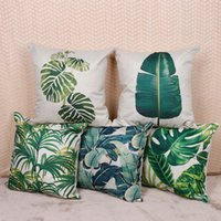 Wholesale Plant leaves flax hold pillow case automobile seat back cushion manufacturer purchasing to figure custom