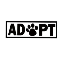animal print car accessories - For Adopt Dog Cat Animal Rescue Adoption Paw Print Car Styling Jdm Vinyl Decal Car Bumper Sticker Accessories Decorate