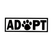 achat en gros de adopter des chiens-Pour Adopter Dog Cat Animal Rescue Adoption Paw Imprimer Car Styling Jdm Vinyle Autocollant Accessoires Autocollants pour voiture Décorez