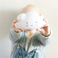 baby nursery lamp - Cute Smile White Cloud Night Light Ins Hote Cute Mini LED Cloud Lamp Kids Children Bedroom Nursery Living Room Decor Baby Christmas Gift
