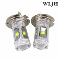 WLJH 30W Led Chip H7 LED Car Styling Lamp Éclairage Ampoule à phare Automobile Driving DRL Fog Lamp Bulb H7 Xenon White