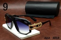 Cazal Gafas de sol 4018 Black Frame Azul Lentes Cheap Vintage Gafas de sol Marca Designer Cazal Gafas Frames Hombre Mujer Retro Polarized Lens