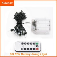 Wholesale LED String Lights Battery Powered with Remote Control M leds IP65 Indoor Outdoor Christmas Tree Timer Rope Lighting