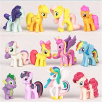 Wholesale 2017 new set little horse Desktop Decoration toy cartoon PVC Action Figures toys children Gift C1852