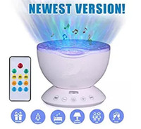 Wholesale Remote Control Ocean Wave Projector Sleep Night Lights Bedroom Living Room Decoration Lamp with Built in Music Speaker for Kids Adult