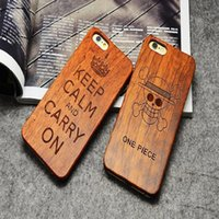 Cheap For iPhone 7 6 6S Plus Wooden Bamboo Case Custom Design Wood Protective 5s Back Cover Samsung Galaxy S7 S6 Edge S5 DHL