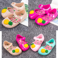Wholesale Girls Sandals for Kids PVC Toddler Fashion Beach Shoes Pineapple Clogs Sweet Princess Outdoor Summer Casual New