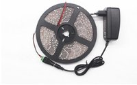 Wholesale 3528 Waterproof LED Strip m leds light v2a Power adapter Female DC Plug for decoration Christmas party