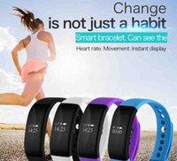 V66 Bluetooth 4.0 étanche IP68 Bracelet élégant Bracelet bracelet de fréquence cardiaque pour iPhone 7 Samsung S7 iOS téléphone Android