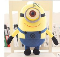 Wholesale Despicable me little yellow people adorable plush toy doll eyes children pillow Girl Doll birthday gift