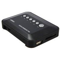 Vente en gros - Lecteur multimédia haute définition Formats complets HDMI 1080P HD Vidéo YPbPr USB AV SDHC MKV RM RMVB AVI Appareils audio universels