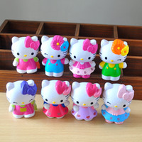 Wholesale New arrival set cm Hello Kitty high quality action figures kids birthday gifts kids toys collection cake decorations