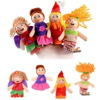 Wholesale Cartoon Finger Puppet Finger Toy Animal Doll Baby Dolls for Kid s Fairy Tale Finger Toys Cheap In Stock Puppet JF