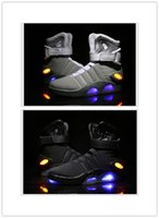 aka racing - 2017 New Hot Air Mag AKA Marty McFly s Basketball Shoes Glow In The Dark Sole Mag Limited Edition Air Mags Sneaker for Men